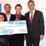 Remise du don AGIPI à Strasbourg le 13 janvier 2016.