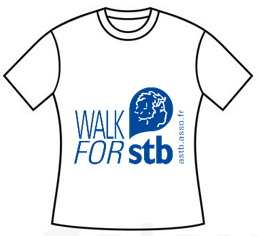 Mini Tshirt Blanc walk for