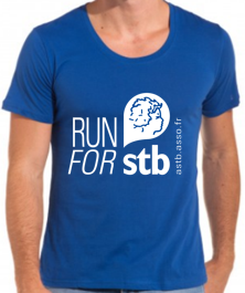 Mini Tshirt Bleu run for