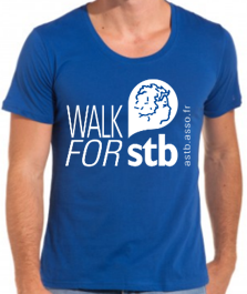 Mini Tshirt Bleu walk for