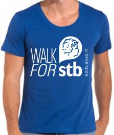 Mini Tshirt Bleu walk for