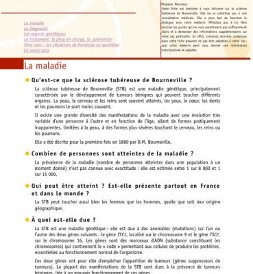 Fiche STB Orphanet