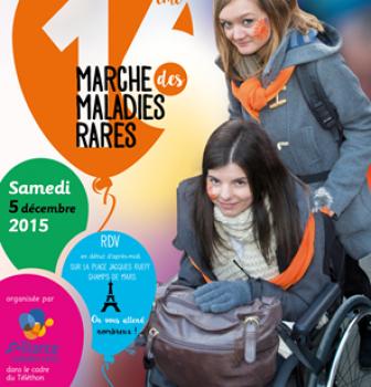 Marche pour les maladies rares le 5 décembre 2015